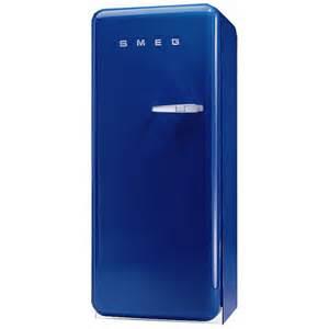 Smeg Smeg Fab28ybl1 60cm Retro Refrigerator Left Hand Hinge