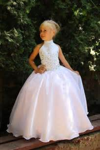 first communion dresses for bridesmaid wedding party kids evening gowns white ivory sequin