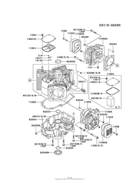 4 stroke engine diagram kawasaki fh680v es24 4 stroke engine fh680v parts diagram