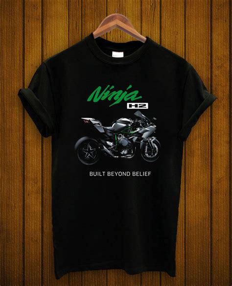 Kawasaki Racing Tshirt kawasaki t shirt motor cycle logo printed h2 racing