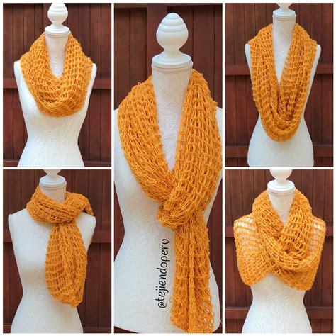 nudos de bufanda bufanda infinita en combinaci 243 n de punto red y el nudo