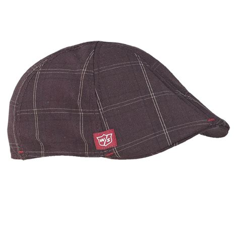 Classic Hat wilson staff classic golf cap brownplaid at intheholegolf
