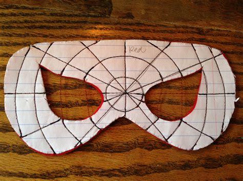 spiderman eye pattern superhero masks sew like my mom