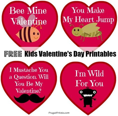 kidsvalentines day card template free printable s cards archives frugal fritzie