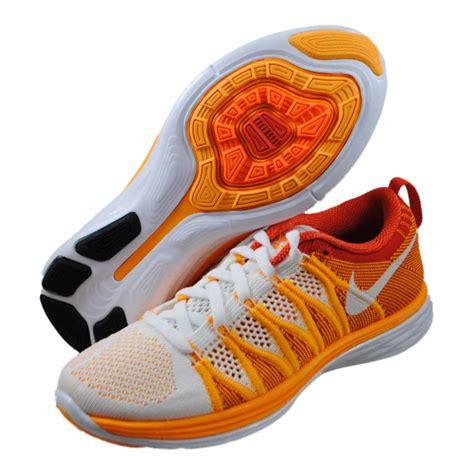 orange nike shoes womens nike womens flyknit lunar2 orange running shoes 620658 101