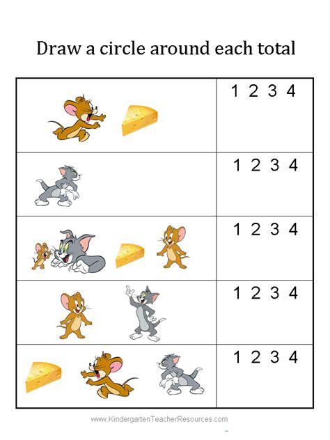 Kaos Ordinal Tom Jerry Ordinal tom and jerry math workbook