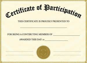 Participation Certificate Template by Doc 600615 Printable Certificate Of Participation