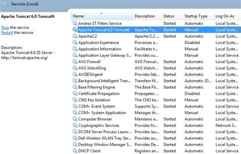 installing xp apache as service related keywords suggestions for tomcat 6