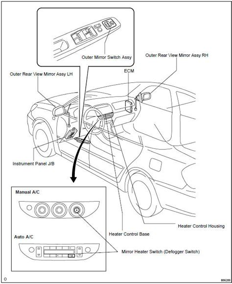 toyota power mirror wiring diagram wiring diagram with
