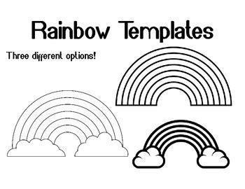 Rainbow Template for Art Project Rainbow Coloring Page ... Rainbow Clipart Outline