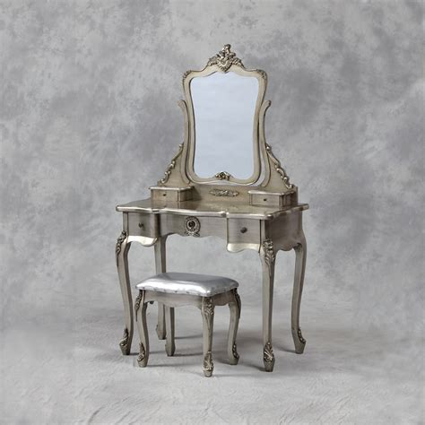 Silver Dressing Table Stool by Antique Silver Dressing Table Stool