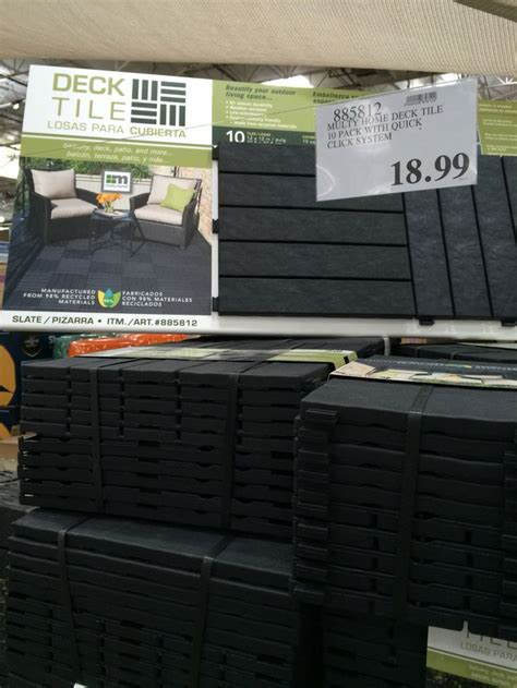 Costco Floor Tiles by 10 Pack Patio Deck Tiles Recycled Material 18 99 Deck