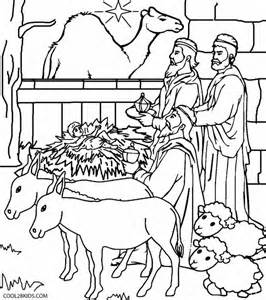 coloring page nativity scene download