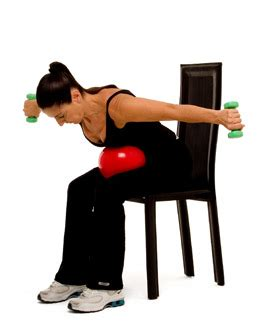 Armchair Exercises by Iposture Posture For Armchair Exercises Weights Added Triceps Extension