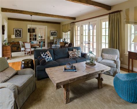 eclectic great room  goochland traditional family