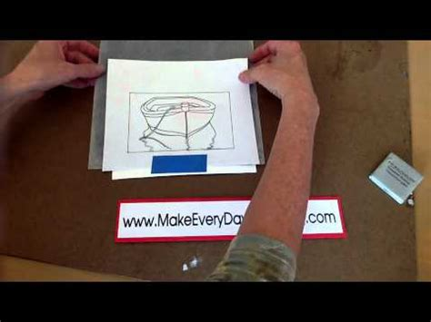 How To Make Graphite Transfer Paper - using graphite transfer paper