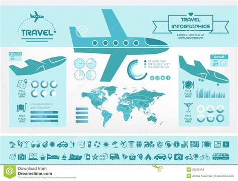 Travel Infographic Template Stock Vector Image 35258154 Travel Infographic Template