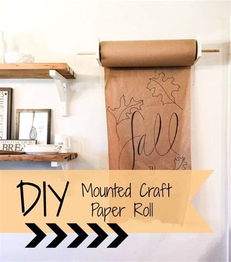 craft table with paper roll holder diy mounted craft paper roll hometalk