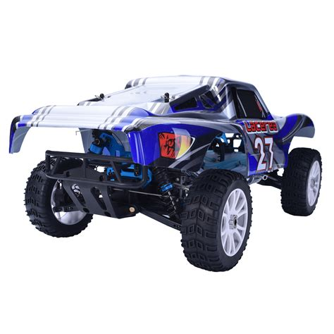 hsp nitro monster hsp 2 4ghz 1 8 rc car off road nitro gas short course