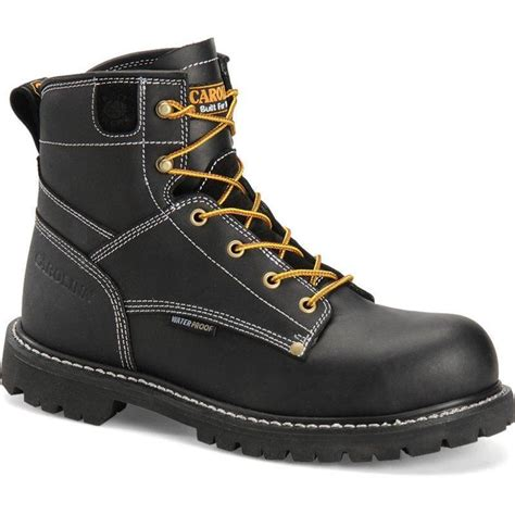 carolina s 6 in black waterproof composite toe boots
