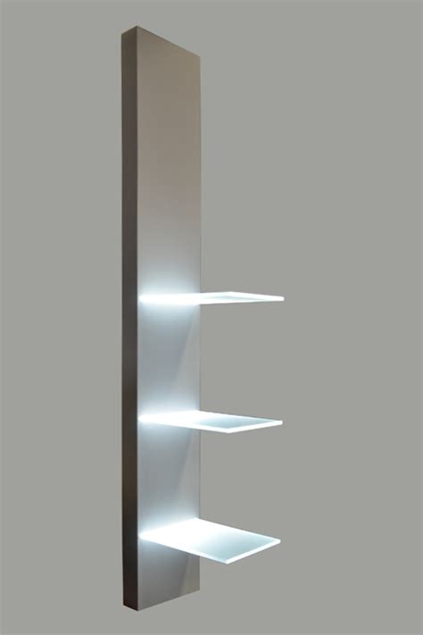 Lighted Wall Shelf by Lighted Led Glass Shelves