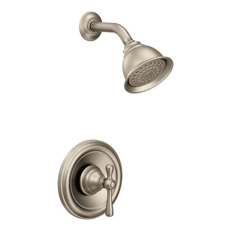 Moen 2 Handle Kitchen Faucet moen kingsley single handle 1 spray shower faucet trim kit