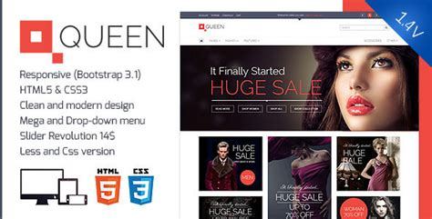 themeforest queen queen responsive e commerce template v 1 4 by
