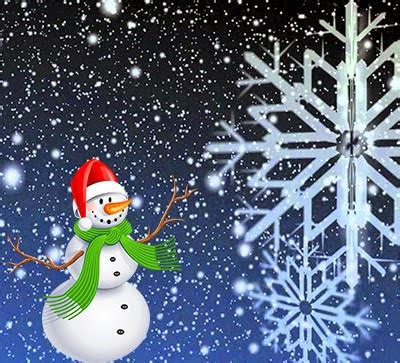 add christmas snow falling effect with snowman for blogger