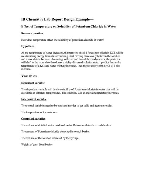 lab report template chemistry lab report abstract exle best and professional templates