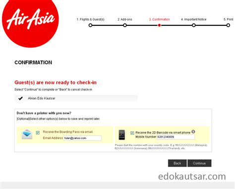 airasia online check in pengalaman web check in maskapai airasia indonesia edo