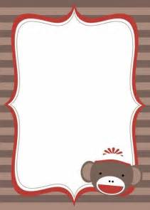 Sock Monkey Invitation Template by Baby Shower Invitations Blank Baby Shower Invitation