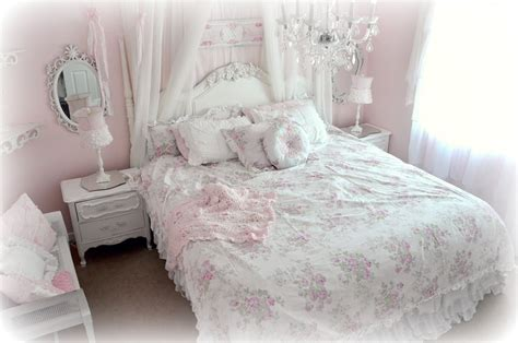 shabby chic bedding can add an elegant vintage touch to