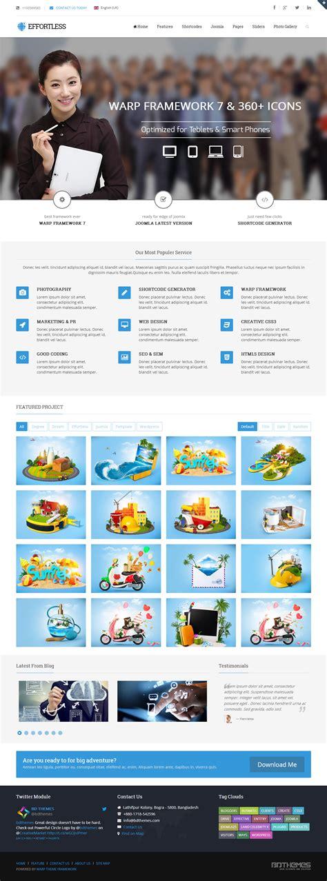 template joomla effortless effortless premium responsive multipurpose retina joomla