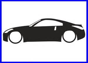 Sm Home Decor 1x Low Nissan 350z Z33 Outline Sticker Lr171 Ebay