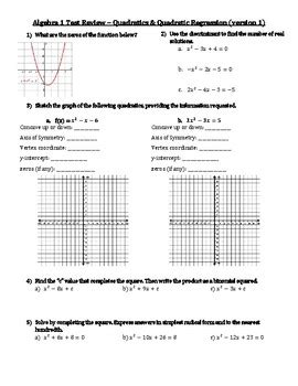 Quadratic Regression Worksheet