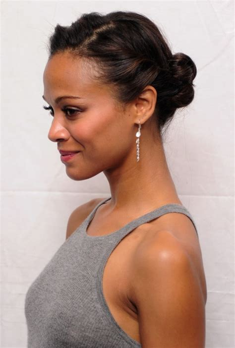 easy hairstyles for medium length african american hair african american daily hairstyles zoe saldana cute