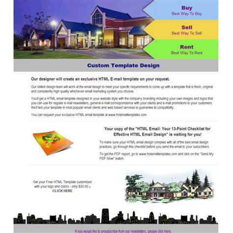 real estate free html e mail templates