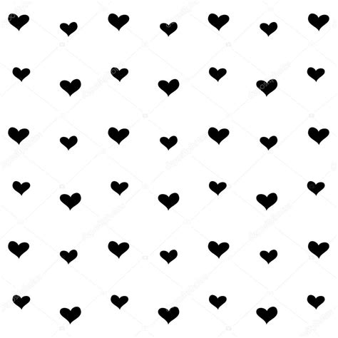 black heart pattern black and white heart pattern background stock vector