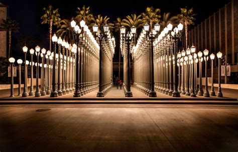 los angeles street lights los angeles california los angeles county museum of art