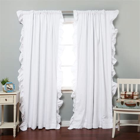 white ruffled curtains for nursery wonderful blackout curtains target for home decoration
