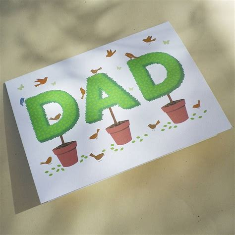 Gift Cards For Dads - topiary dad gift card by glyn west design notonthehighstreet com