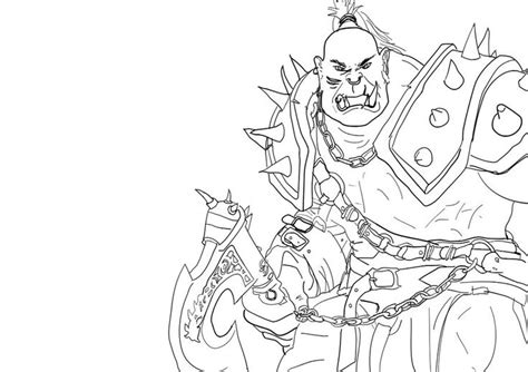 coloring pages of world of warcraft warcraft orc coloring pages sketch coloring page