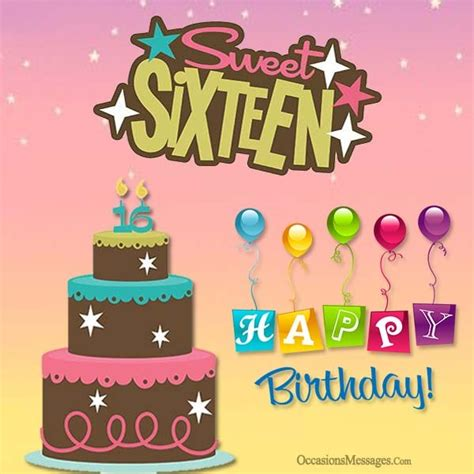 Happy Sweet 15 Birthday Quotes 16th Birthday Wishes Sweet Sixteen Birthday Messages