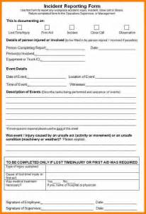 free report form template 9 exle of incident report form bid template