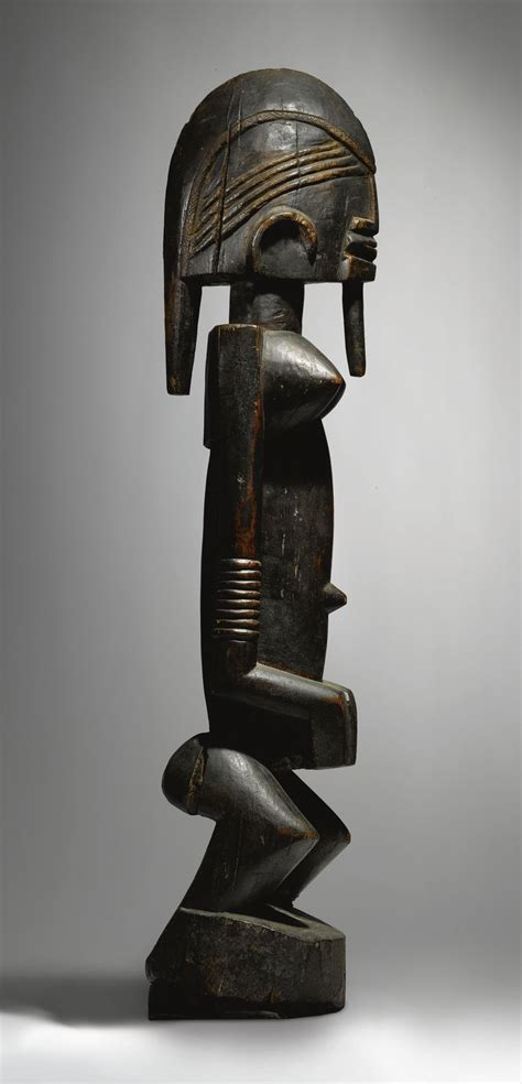 classical bronze statues primitive african tribal life africa female figure by the ogol circle of artists