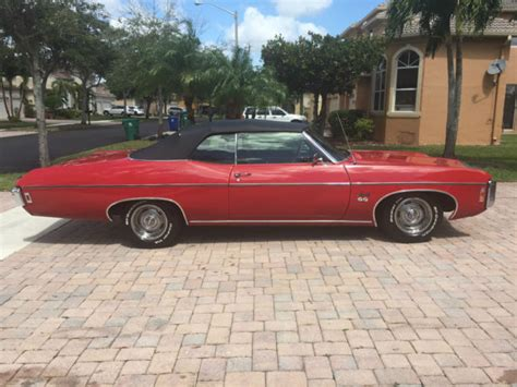 1969 impala convertible for sale 1969 chevrolet impala convertible ss427 matching numbers
