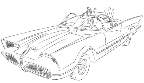 classic batman coloring pages we first see the batmobile when batman comes to rescue