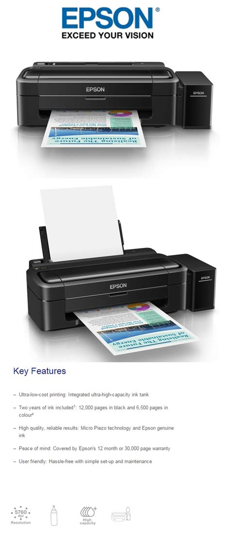 Printer Epson L310 Jogja new epson l310 color printer inkjet ink tank system