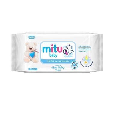 Mitu Baby Wipes Botol 60 Sheet jual tissue basah harga promo oktober 2018