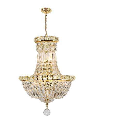 Gold Chandeliers Worldwide Lighting Empire Collection 6 Light Polished Gold Chandelier W83032g12 The